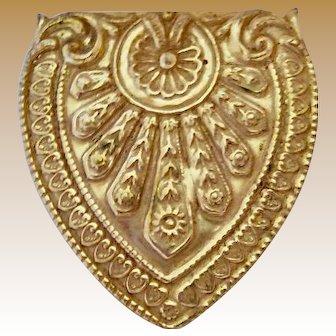 Miriam Haskell Goldtone Pin
