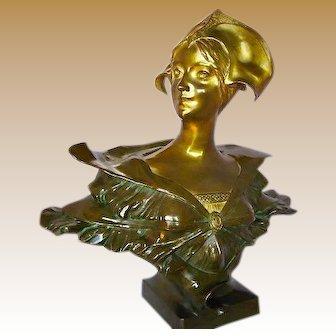 Gilded Bronze Bust Paul Louchet Paris