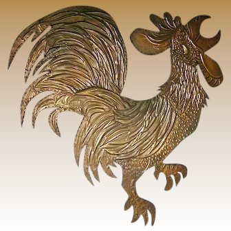 Lg. Copper Art Rooster-1961
