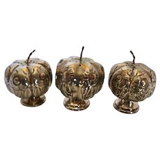 Early Mexican Sterling Silver Pumpkin Salt and Peppers
