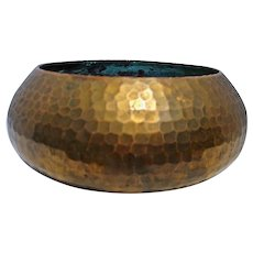 Roycroft Bowl Old Brass Patina Middle Mark