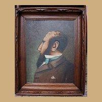 Oil on Board Portrait of a Man-Framed-1924