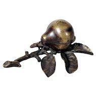 Delightful  Bronze Inkwell Pear Shape