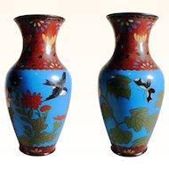 Amazing Chinese Cloisonne Vase  ca. 1900