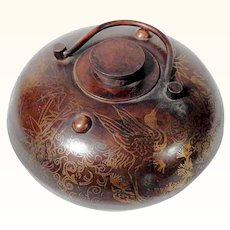 Handcrafted Chinese Brass Hand Warmer Wonderful Motifs