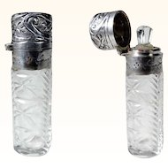Cut Glass Scent Bottle ca. 1900
