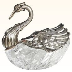 Decorative Swan Bonbonniere Candy Tray Movable Wings