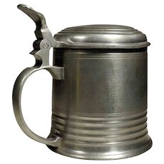 German Pewter Tankard or Stein  Mug