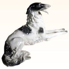 Majestic Borzoi Dog Fine Porcelain Schaubach Manufactory Germany