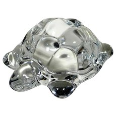 Lovely Paperweight  – Turtle – Crystal Figurine Manufactory Daum France