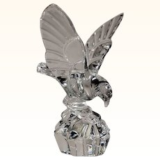 Val Saint Lambert Large Crystal Landing Eagle