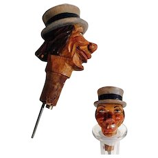 Hand Carved  Bottle Stopper Black Forest about 1930
