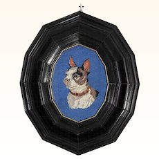 Fine Embroidery of a Dog ca. 1900
