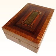 Victorian Era Treen  Jewelry Box Superb Marquetry ca. 1850