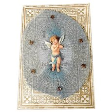 Remembrance of the Holy Baptism  Lovely Angel dated 1884