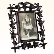 Superb Hand Carved Table Top Frame Black Forest