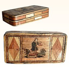 Early 19th Century Straw Marquetry Box – Incredible Ancient Craftsmanship!