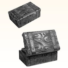 Hand Carved  Box Desk Servant Case Shape