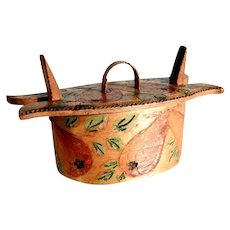 Hand Crafted Miniature Scandinavian Folk Art Spice Box