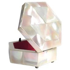 Lovely Trinket Box Mother of Pearl Marquetry