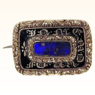 Victorian Era Charming Mourning Brooch In Memory Of