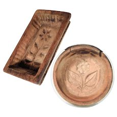 19C Butter Molds Hand Carving