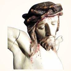 Large Jesus Body Hand Carving Germany  Wonderful Devotional Object