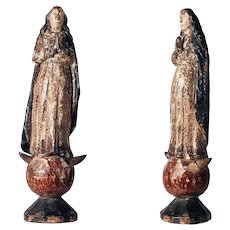 Praying Virgin – Very Old Hand Carving 18th Century