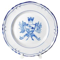 Faience Tray St. Clement Armorial Bearing of the Town Nancy  French Ca. 1920
