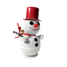Funny Vintage Snowman Container