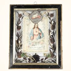 Convent Work Reliquary Jesus Sacred Heart Divine Mercy Lamb of God