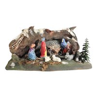 Folk Art Creche Christmas Crib Santons Nativity Scenery