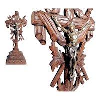 Cross Crucifix Wooden Golgatha Cross ca. 1920