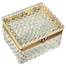 Diamond Cut Crystal Jewelry Casket Box
