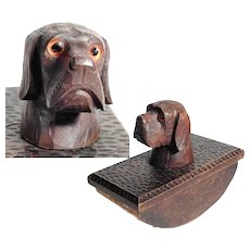 Wooden Blotter Adorable Knob Sad Doggie Looking for a New Home