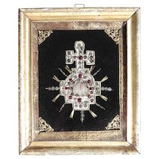 Early 19th Century Convent Work Holy Blood Relic