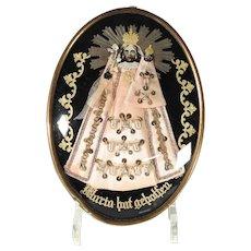 19th Century German Reliquary Virgin Mary Baby Jesus