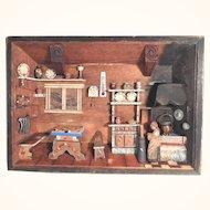 Delightful and Rare Farmhouse Parlor Diorama