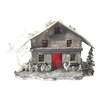 Lovely Old Wooden Light House Christmas Display