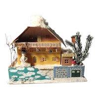 Darling Light House Christmas Display Cardboard