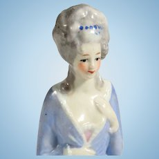 Half Doll for Pin Cushion Hand Painted Porcelain