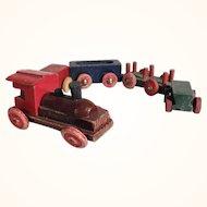 Lovely Handmade Erzgebirge Wooden Miniature Train for Doll Village