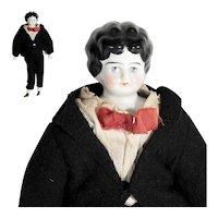 German Porcelain Shoulder Head Doll Boy ca. 1900