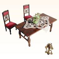 German Wooden Parlor Furnishing Set Vases and Candelabra