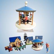 Lovely Putz Houses Funfair Kermis Bar Carousel Persons