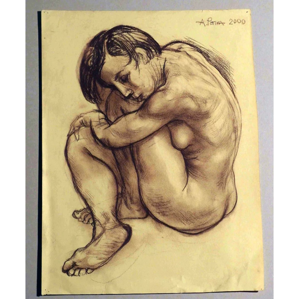Woman nude pencil drawing by alexander repka russian artist listed sold ruby lane