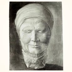 Portrait of an Old Woman Drawing ca. 1900