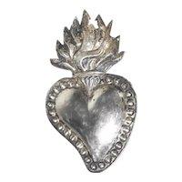 Lovely Reliquary Ex-Voto Sacred Heart of Jesus Dollhouse Size