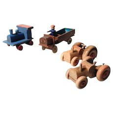 Four Lovely Wooden Toys for a Doll House Erzgebirge
