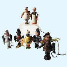 Handmade and Hand Painted Erzgebirge Figurines Dollhouse